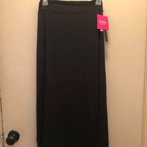 NWT super cute long black skirt.